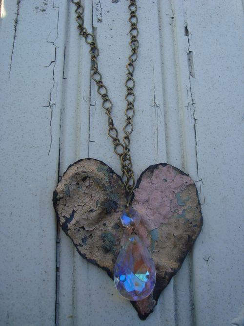 Aurora Borealis Pink Heart 1
